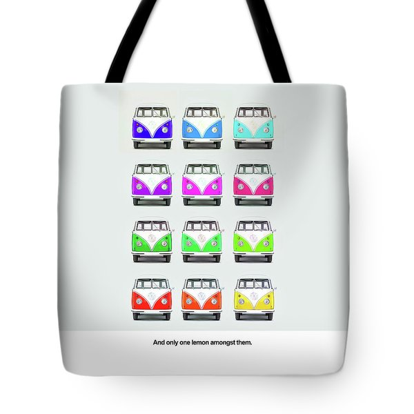 Only One Lemon Tote Bag by Mark Rogan