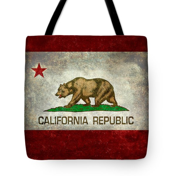 California Republic State Flag Retro Style Tote Bag