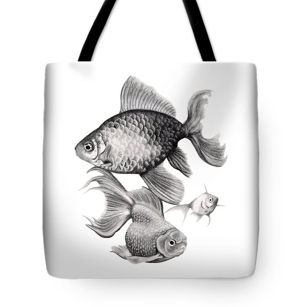 Goldfish Tote Bag by Sarah Batalka