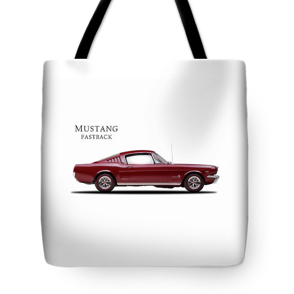 Ford Mustang Fastback 1965 Tote Bag by Mark Rogan