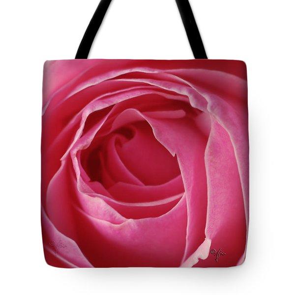 Pink Rose Dof Tote Bag