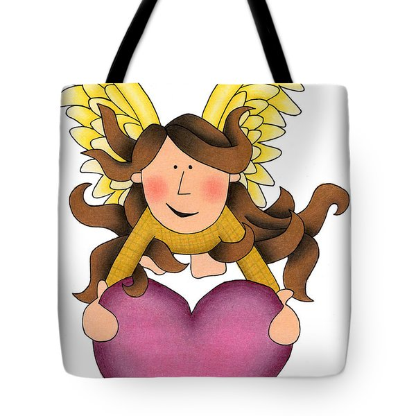 From The Heart Tote Bag by Sarah Batalka