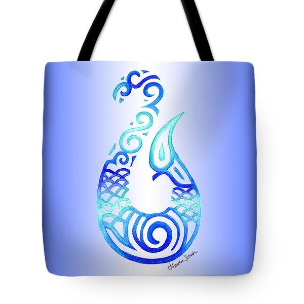 Tribal Fish Hook Tote Bag