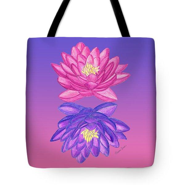 Sunrise Sunset Lotus Tote Bag