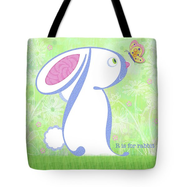 R Is For Rabbit Tote Bag