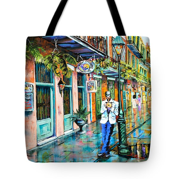 Tote Bag featuring the painting Jazz'n by Dianne Parks