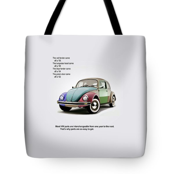 Vw Parts Tote Bag