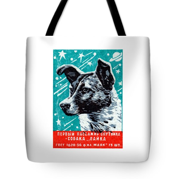 1957 Laika The Space Dog Tote Bag by Historic Image