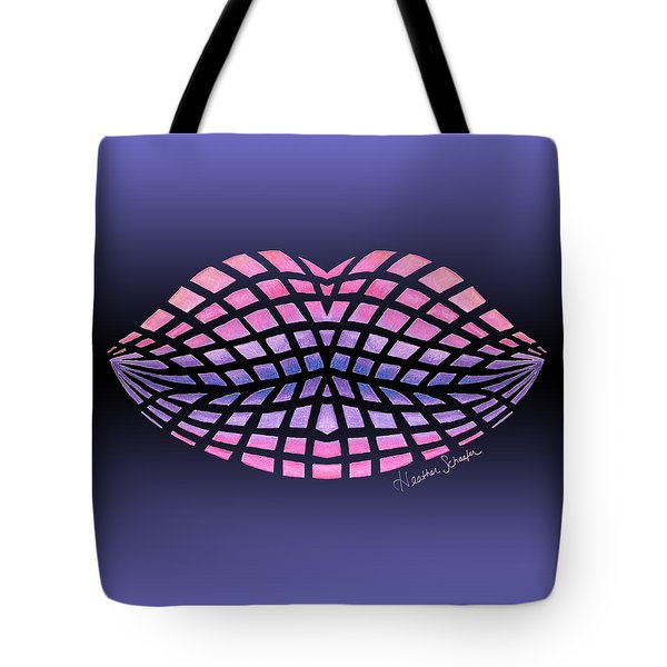 Vasarely Style Lips Tote Bag