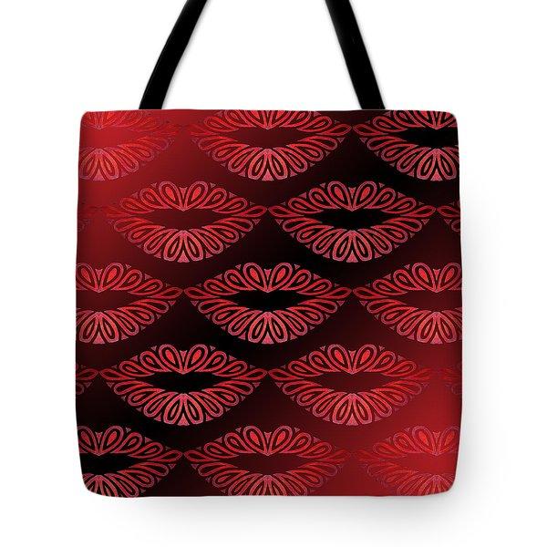 Tribal Lips Tote Bag