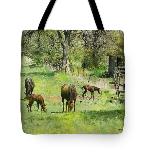 Spring Colts Tote Bag