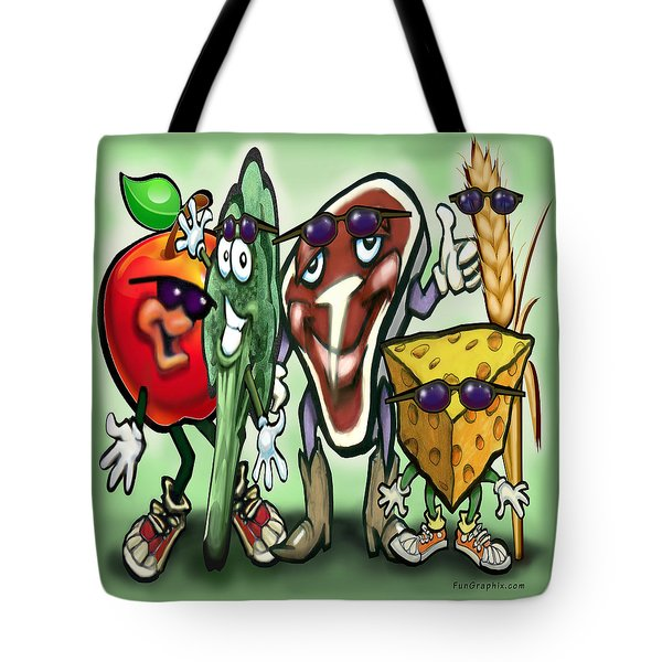 Food Groups Party Tote Bag