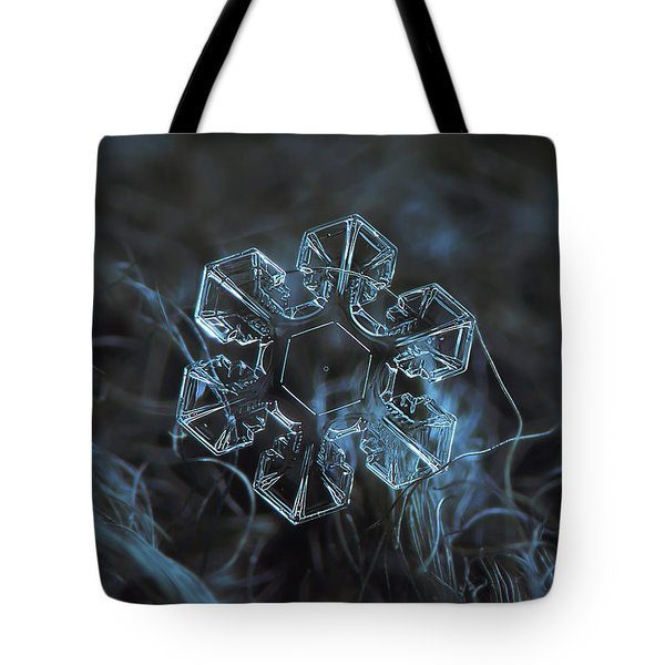 Snowflake Photo - The Core Tote Bag by Alexey Kljatov