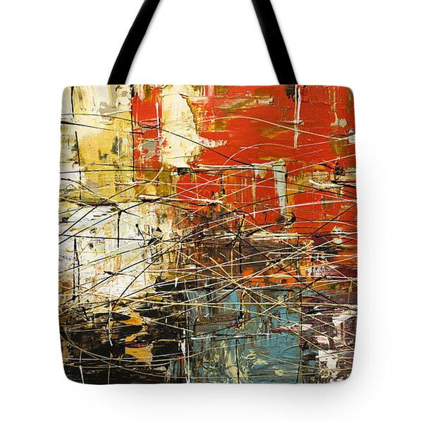 Tote Bag featuring the painting Artylicious by Carmen Guedez