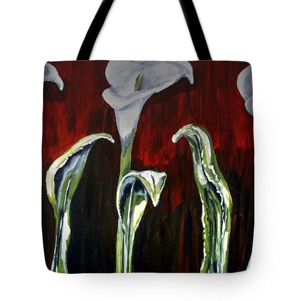 Arum Lillies Tote Bag
