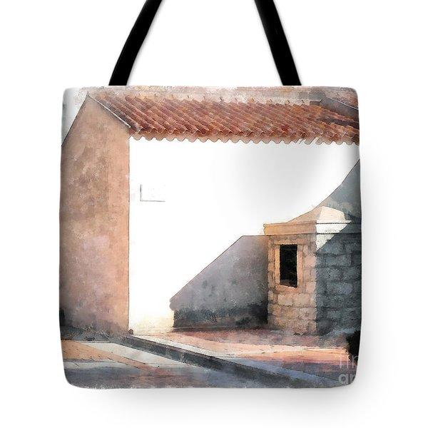 Arzachena Building Tote Bag