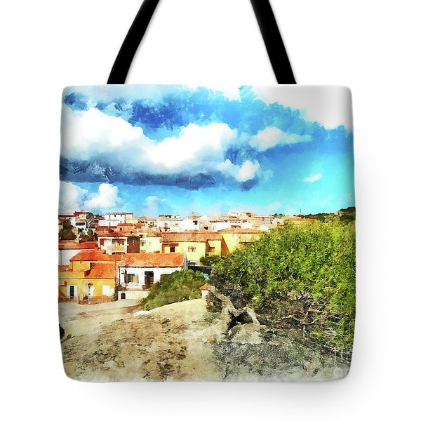 Arzachena Landscape With Clouds Tote Bag