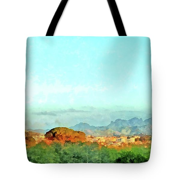Arzachena Landscape With Mountains Tote Bag