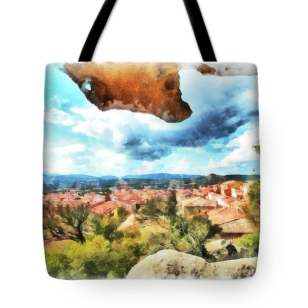 Arzachena Landscape With Rock Snd Clouds Tote Bag