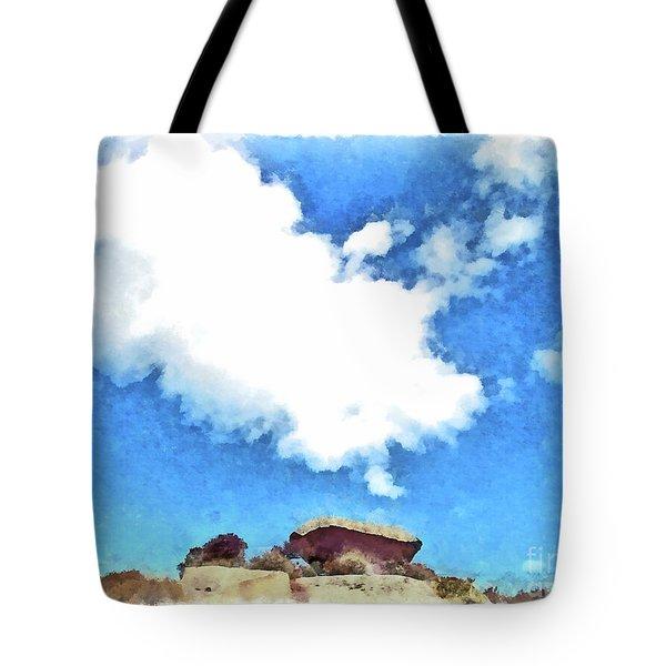 Arzachena Mushroom Rock With Cloud Tote Bag