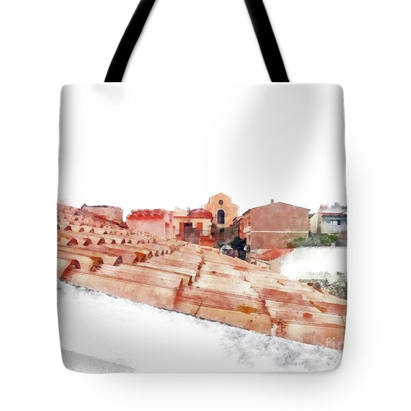 Arzachena Roof And Church Tote Bag