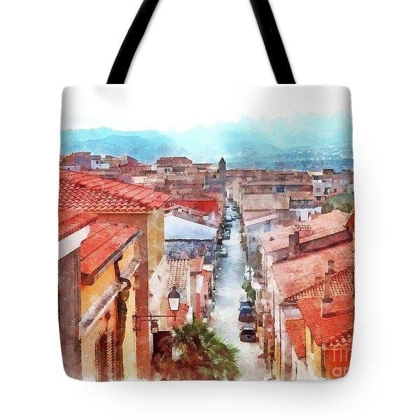 Arzachena View Of The Corso Garibaldi Tote Bag