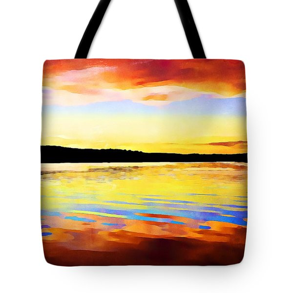 As Above So Below - Digital Paint Tote Bag