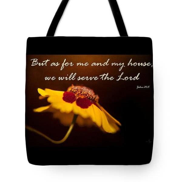 As For Me And My House Tote Bag
