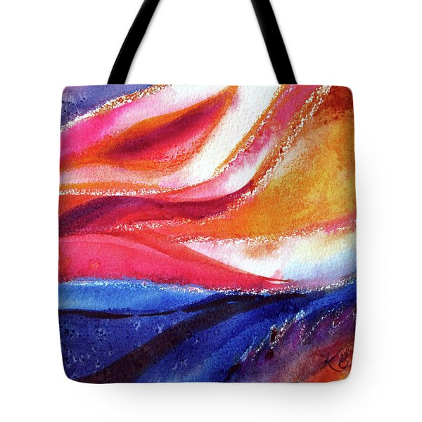 Tote Bag featuring the painting As I Bloom by Kathy Braud