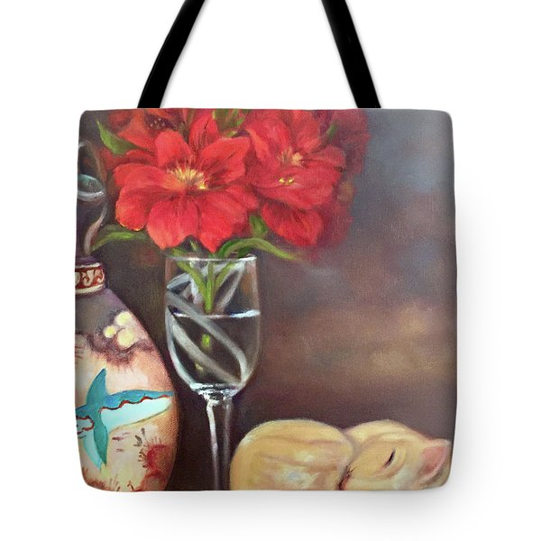 Tote Bag featuring the painting As If In A Dream by Marlene Book