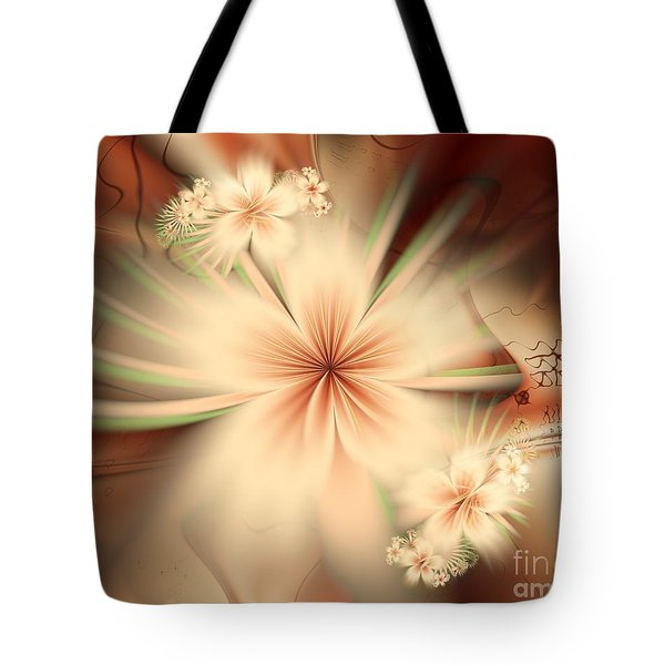Tote Bag featuring the digital art As In A Dream by Michelle H