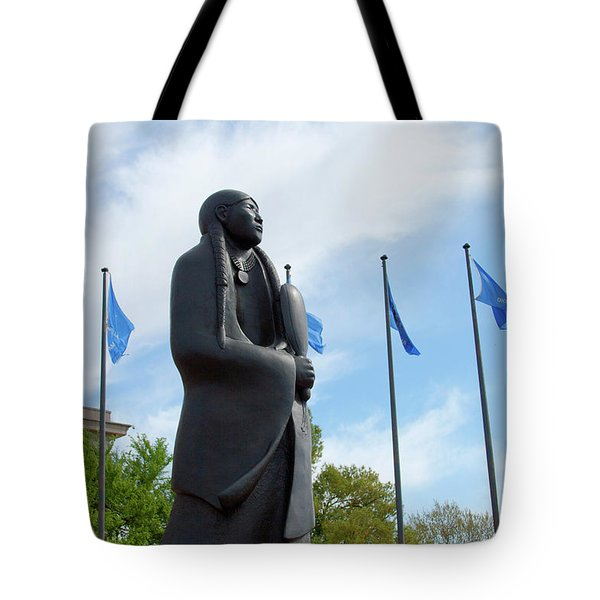 As Long As The Waters Flow Sculpture Tote Bag by Toni Hopper