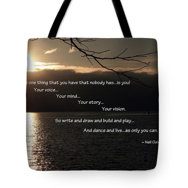 Tote Bag featuring the photograph As Only You Can by Jordan Blackstone