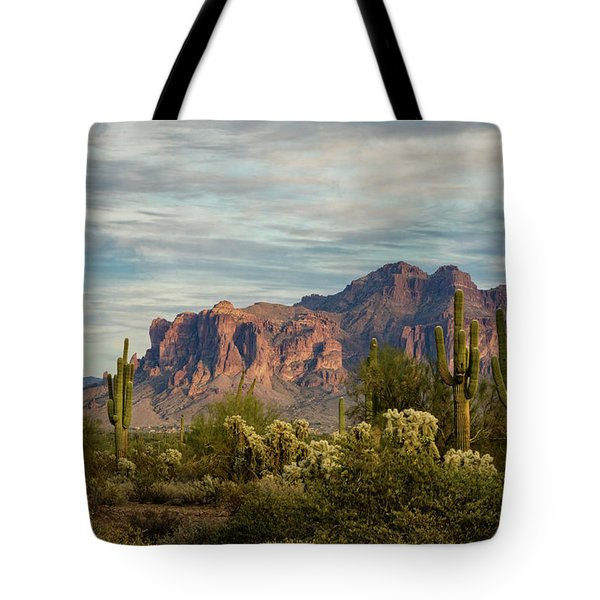 Tote Bag featuring the photograph As The Evening Arrives In The Sonoran  by Saija Lehtonen