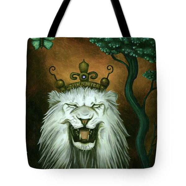 As The Lion Laughs Tote Bag by Leah Saulnier The Painting Maniac