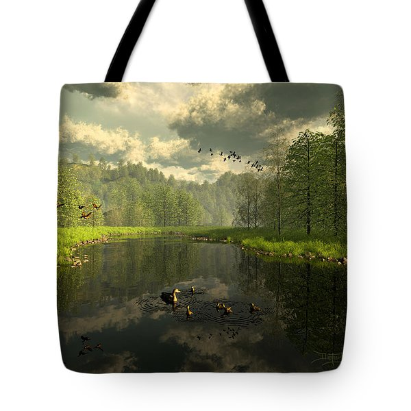 As The River Flows Tote Bag