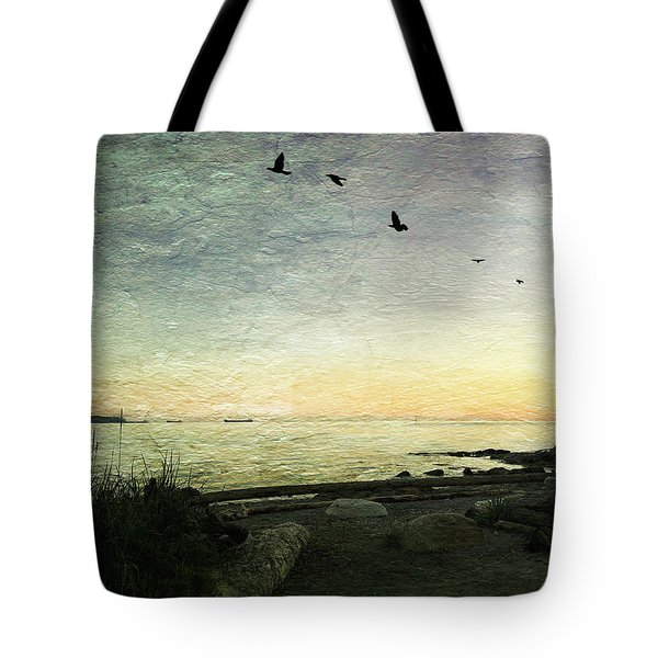 Tote Bag featuring the photograph As The Sky Darkens  by Connie Handscomb