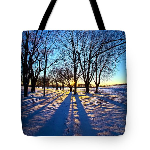 As The Sun Misses The Flower In The Depths Of Winter Tote Bag
