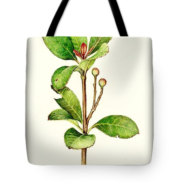 Tote Bag featuring the painting As The Twig Is Bent The Tree Inclines. by Heidi Kriel