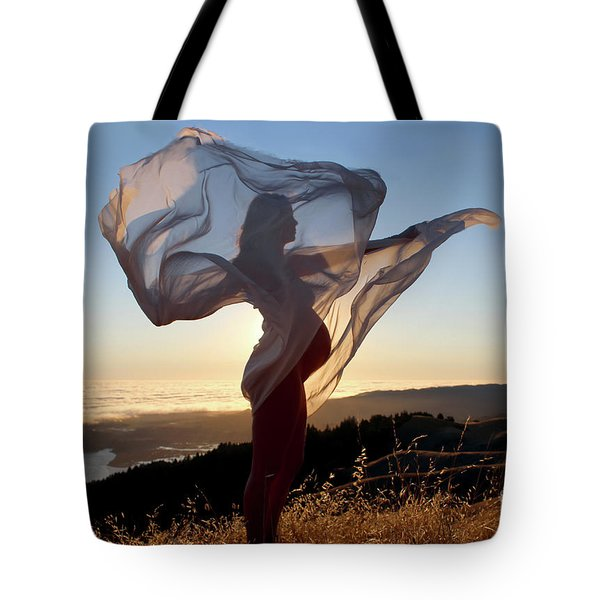 As The Wind Carries The Flower Of A New Life Tote Bag
