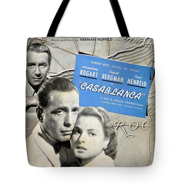As Time Goes By Sheet Music Tote Bag