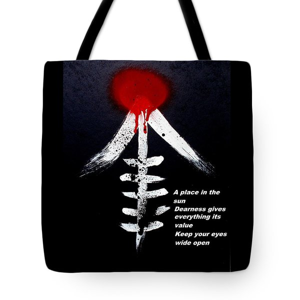 Tote Bag featuring the painting  Asahinoataruie by Roberto Prusso