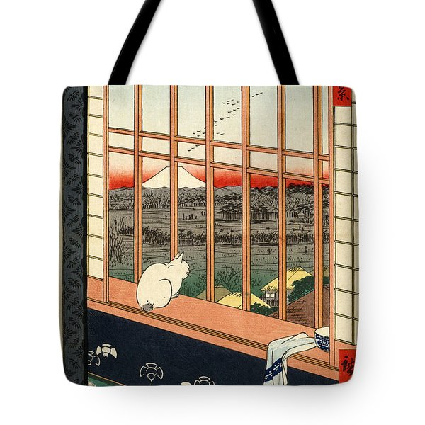 Asakusa Rice Field Tote Bag by Pg Reproductions