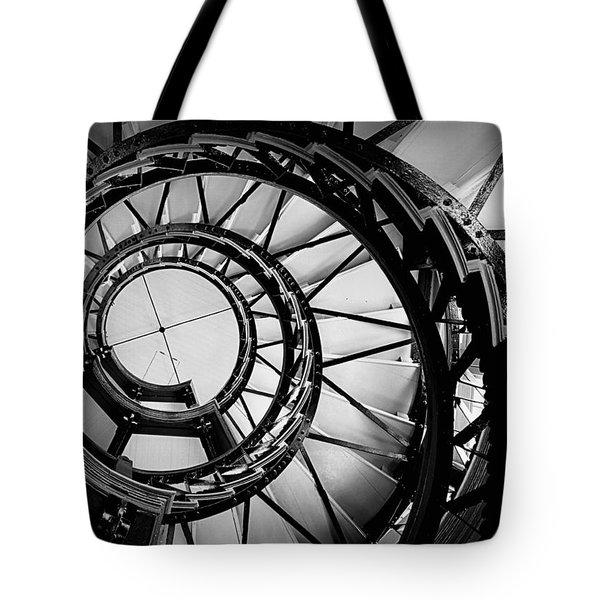 Ascend - Black And White Tote Bag