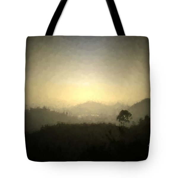 Ascend The Hill Of The Lord - Digital Paint Effect Tote Bag