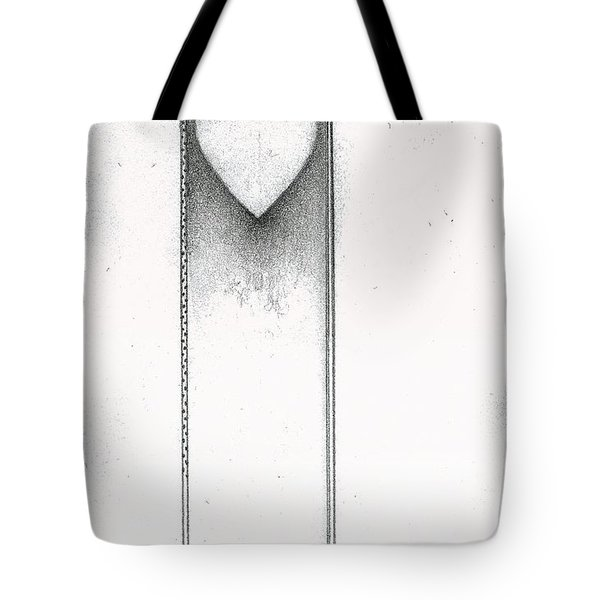 Tote Bag featuring the drawing Ascending Heart by James Lanigan Thompson MFA
