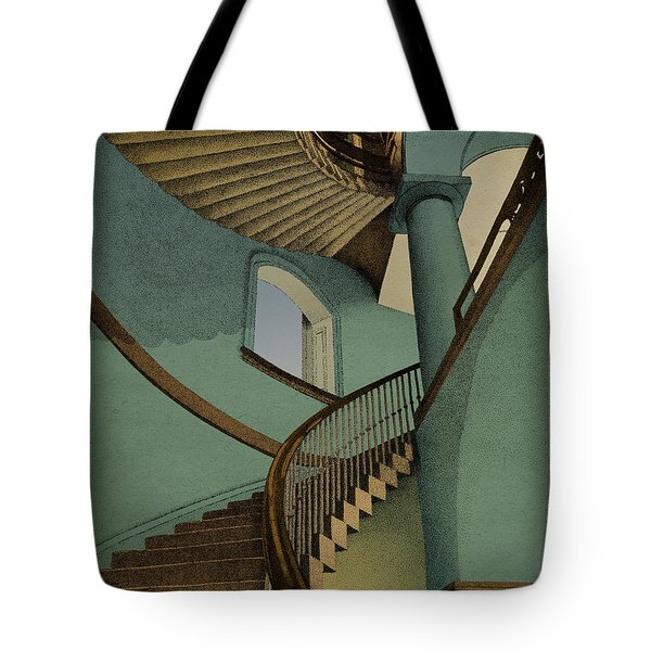 Tote Bag featuring the drawing Ascending by Meg Shearer