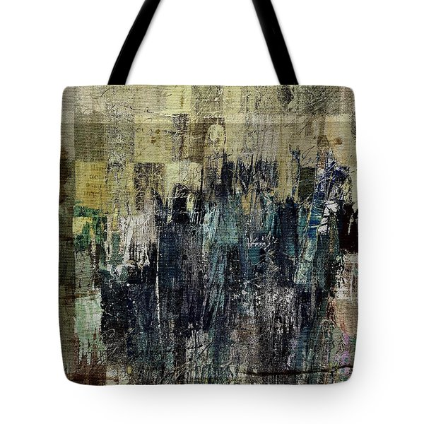 Tote Bag featuring the painting Ascension - C03xt-159at2c by Variance Collections