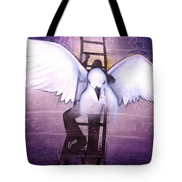 Tote Bag featuring the painting Ascension by Christopher Marion Thomas