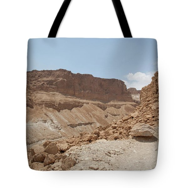 Tote Bag featuring the photograph Ascension To Masada - Judean Desert, Israel by Yoel Koskas